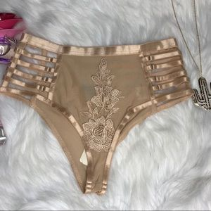 New Embroidered High-waisted Panties Sz Small